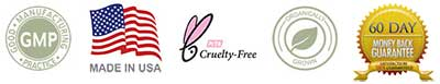 High-Quality CTFO Products: GMP Certified, Made in the USA, Organically grown, Cruelty-Free, 60-day money-back guarantee