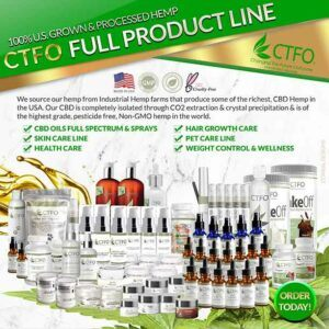 What is CBD Hemp Oil? || What is cannabidiol oil for? -- Image CTFO product line